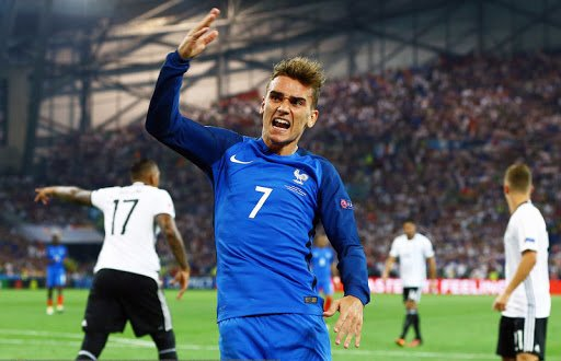 2016782016vsAntoine Griezmann of France reacts during the UEFA Euro 2016 Semi Final match between Ge