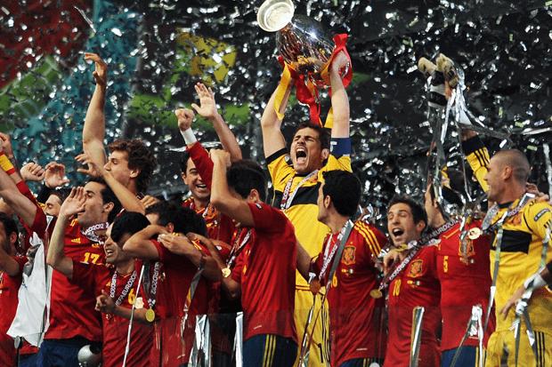歐洲杯唯一一次衛冕的西班牙國家隊